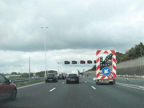 Wegwerkzaamheden bij Dordrecht