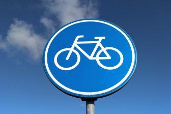 Bord fietspad