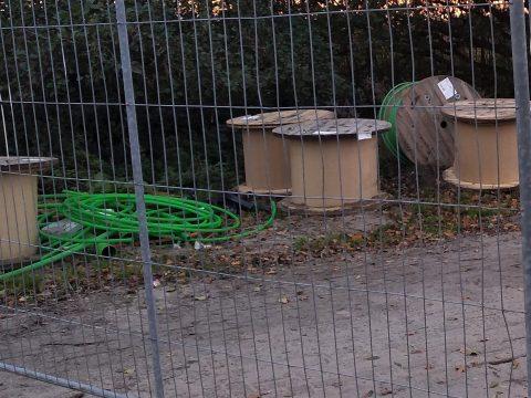 Kabelhaspels op bouwplaats