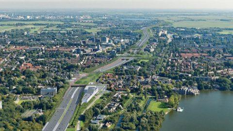 A9 vanuit de lucht. Foto: Rijkswaterstaat