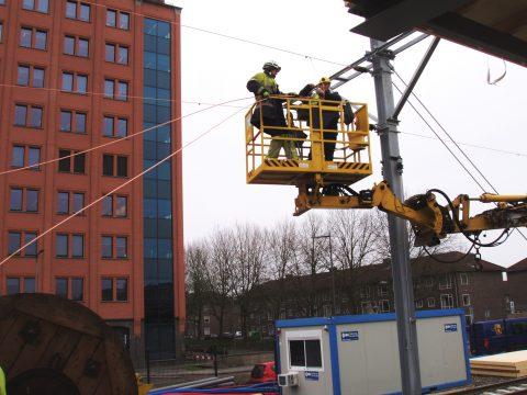 Spoorwerkzaamheden bovenleiding Den Bosch