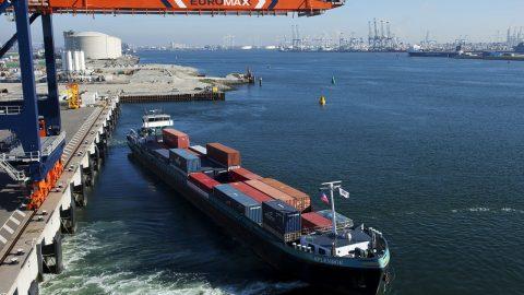 Binnenvaartschip Euromax (foto: Havenbedrijf Rotterdam)