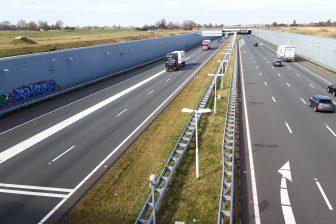 A4 richting Delft, snelweg