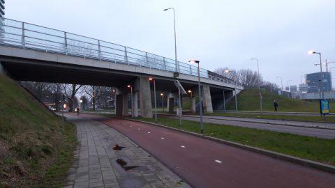 Viaduct, fietspad