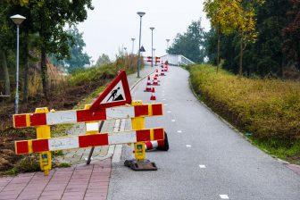 Werk aan fietspad. Foto: Ivo Ketelaar Fotografie