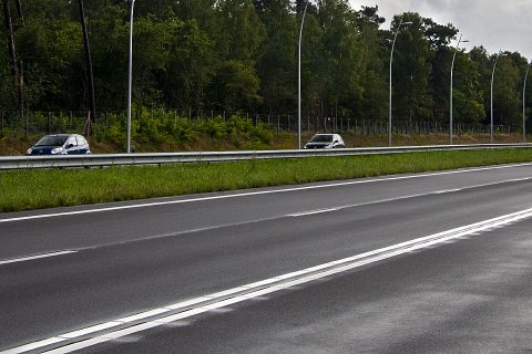 Asfalt belijning, snelweg. Foto: Ivo Ketelaar Fotografie