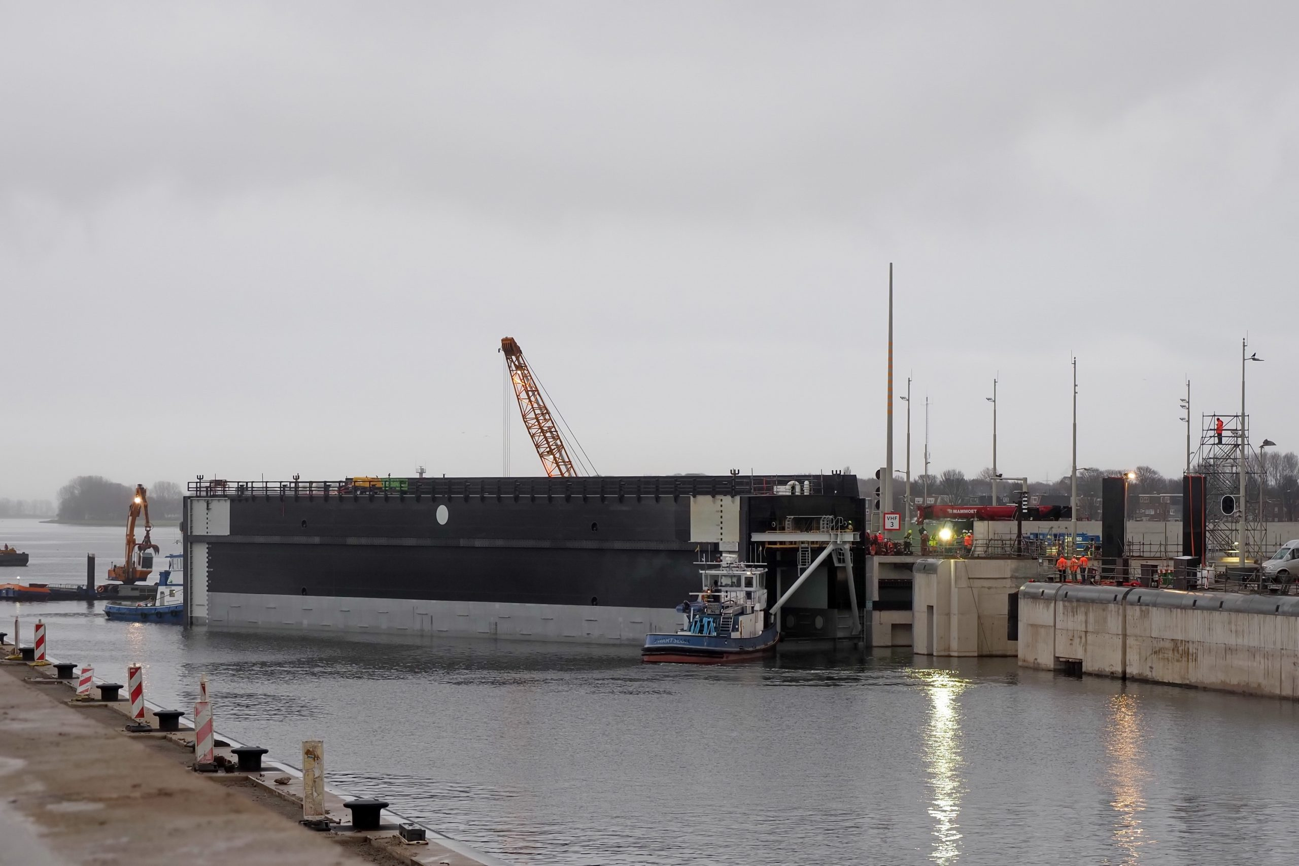Sluisdeur Zeesluis IJmuiden. Foto: Ko van Leeuwen / Rijkswaterstaat
