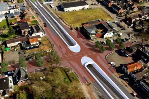 Onderdoorgang Balkbrug. Foto: provincie Overijssel