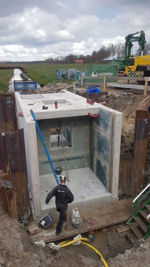 Gemaal Coehoorn. Foto: Van Heteren Weg- en Waterbouw