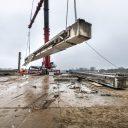 Uithijsen liggers. Foto: Rijkswaterstaat / Ballast Nedam