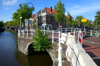 Afgesloten brug Delft. Foto: A. Straub