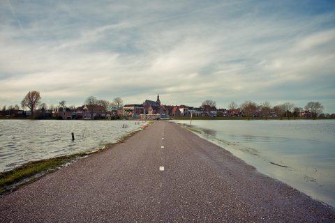 Hoogwater Hattem. Foto: iStock / E. Zeemering