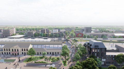 Loopbrug Zwolle. Afbeelding: Karres en Brands / ivp Delft