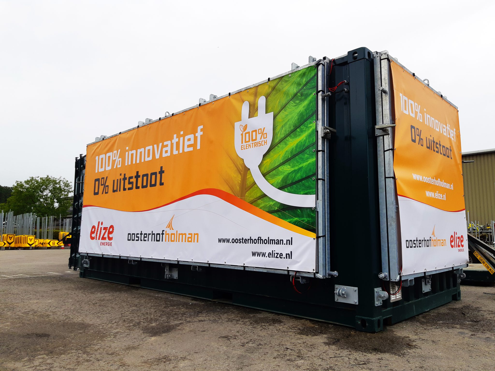 Energiecontainer. Foto: Oosterhof Holman